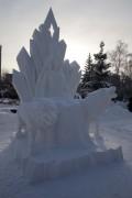 «Снежная королева» ждёт у фонтана